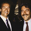 Arnold Schwarzenegger and Mario Kassar at the Tota