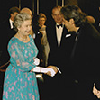 Mario Kassar with Queen Elizabeth II